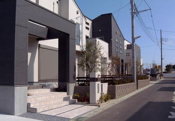 緑がいっぱいの外構 松戸市 写真
