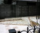 石貼りテラスのドライガーデン 市川市