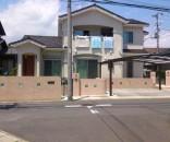 二世帯住宅の外構 千葉県市川市