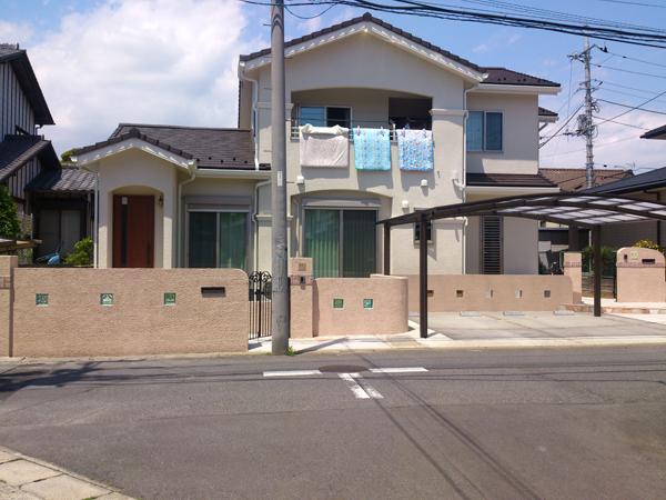 二世帯住宅の外構 千葉県市川市 写真