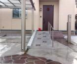 スロープのあるアプローチ 千葉県市川市