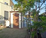 乱形石とレンガの門廻りとお庭のポーチテラス 取手市
