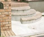サークルストーンを使った階段 市川市