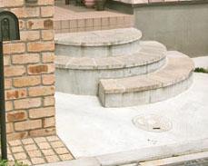 サークルストーンを使った階段 市川市 写真