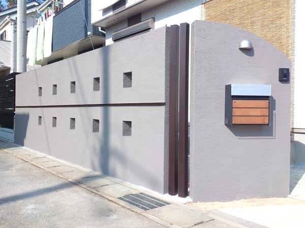 塗り壁のリビング前目隠し 千葉県市川市 写真