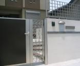 YKKap シンプルモダンシリーズの門扉とフェンス 市川市