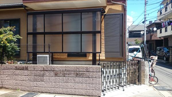 自転車置場のリフォームとテラス屋根 千葉県市川市 写真