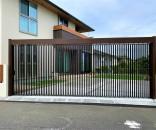 セキュリティーにも優れ、デザイン性のあるライアーレを使った外構 @松戸市